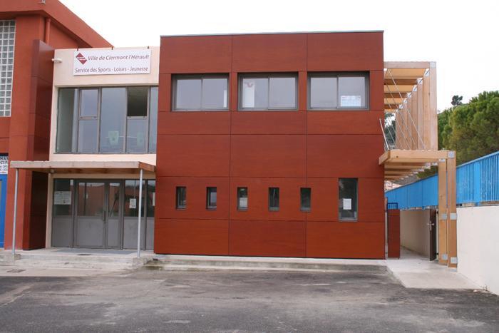 Extension service des sports ville de clermont l 39 herault for Extension maison herault