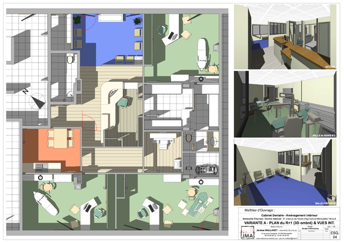 cabinet dentaire montpellier j r me mallaret architecte dplg montpellier. Black Bedroom Furniture Sets. Home Design Ideas