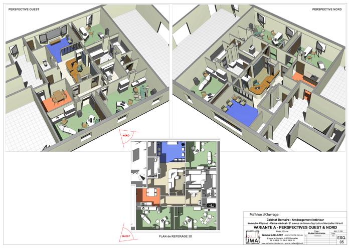 VARIANTE – PLAN D'AMÉNAGEMENT 3D & PERSPECTIVES